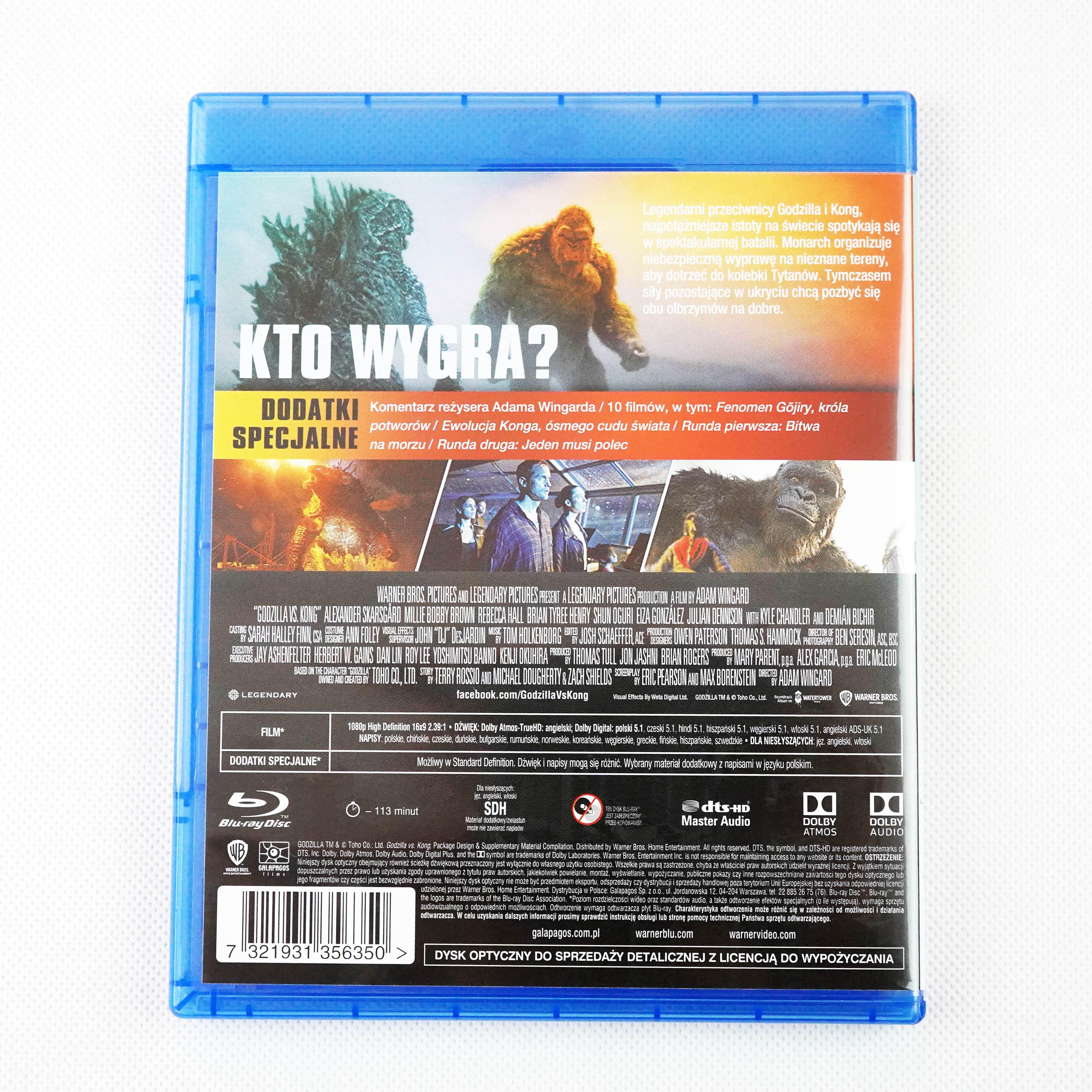 Godzilla vs. Kong wydanie Blu-ray