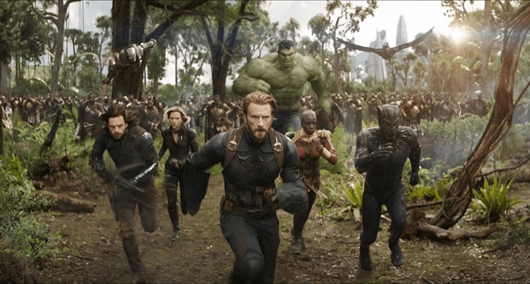 Kapitan Ameryka i Czarna Pantera walczą z armią Thanosa – nowe nagranie