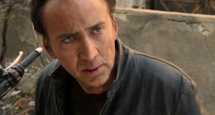 """Nicolas Cage na plakacie swojego nowego filmu """"Willy's Wonderland"""""""
