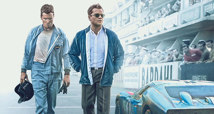 Christian Bale I Matt Damon Na Plakatach Filmu Ford V Ferrari