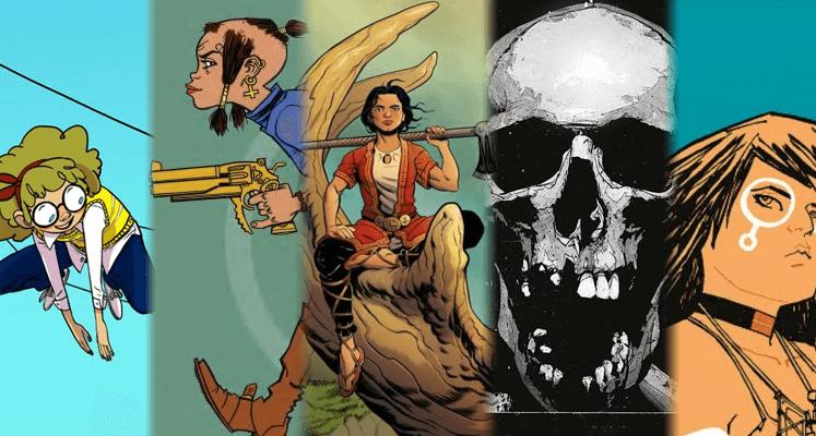 Giant Days tom 3, Tank Girl tom 3, Vei tom 1, Black Monday Murders tom 2, Paper Girls tom 3 - prezentacje komiksów
