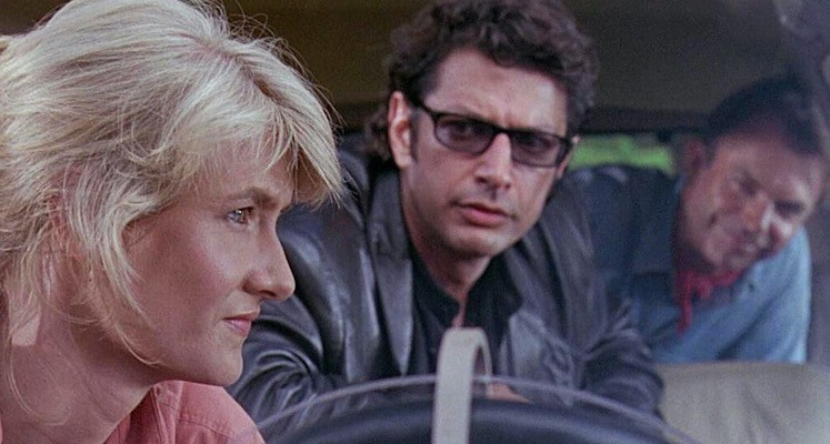 "Jeff Goldblum, Sam Neill i Laura Dern na planie ""Jurassic World: Dominion"""
