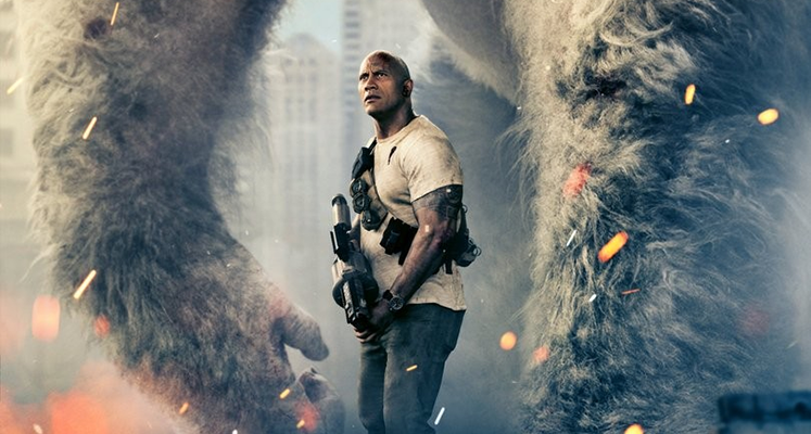 Rampage - Dwayne Johnson na nowym zdjęciu z filmu