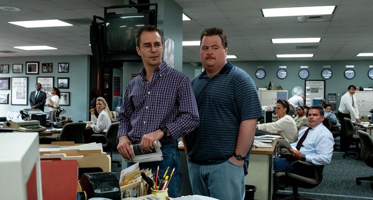 "Paul Walter Hauser i Sam Rockwell  w filmie ""Richard Jewell"""