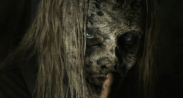 The Walking Dead - główni bohaterowie na mrocznym plakacie sezonu 9B