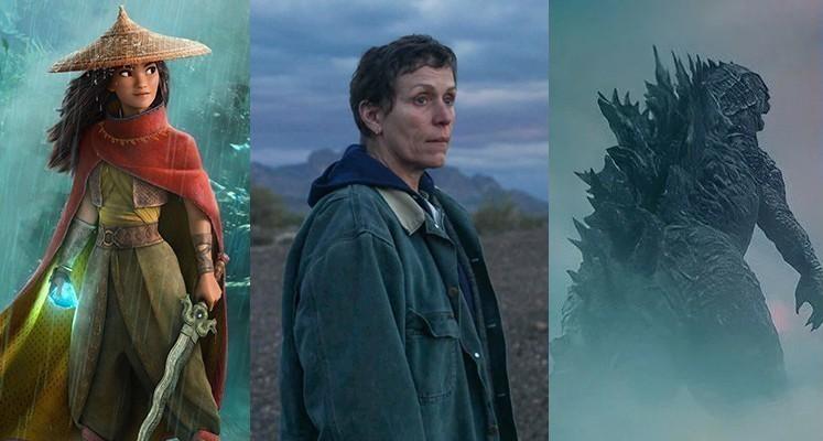 """Filmy """"Raya i ostatni smok"""", """"Nomadland"""" i """"Godzilla vs. Kong"""""""