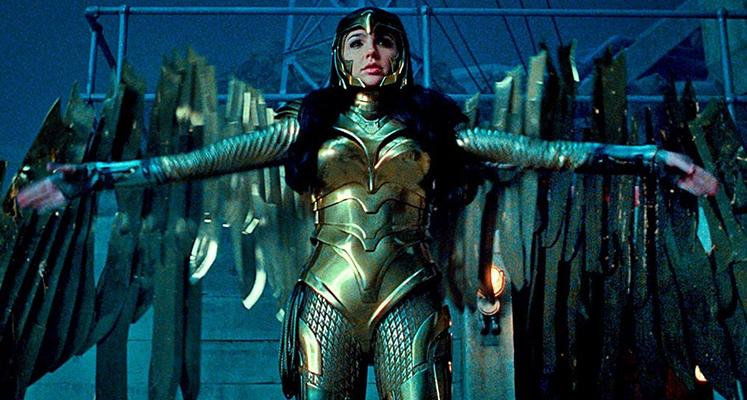 Wonder Woman w złotej zbroi i Cheetah po przemianie