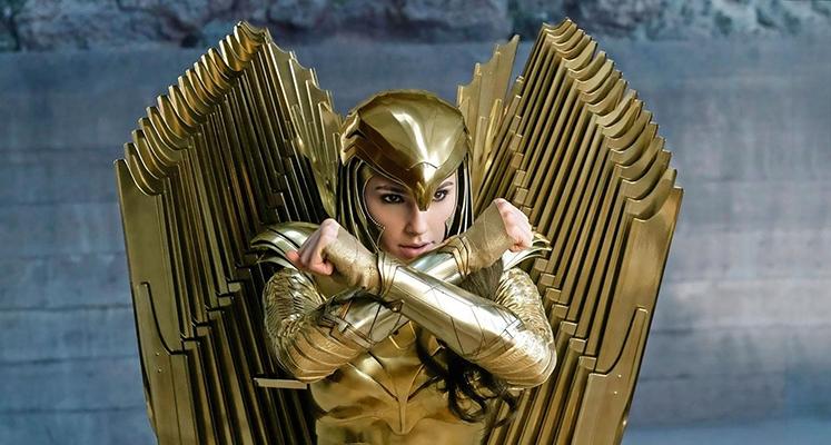 Wonder Woman w złotej zbroi ja nowej okładce