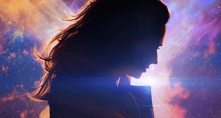 Jean Grey, Magneto i Profesor X na komiksowym plakacie Mrocznej Phoenix