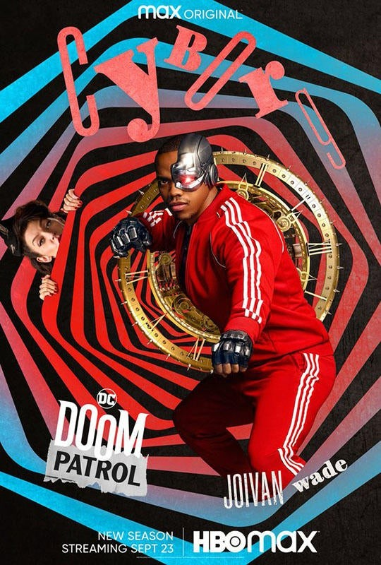"""""""Doom Patrol"""" sezon 3 plakat Cyborg"""