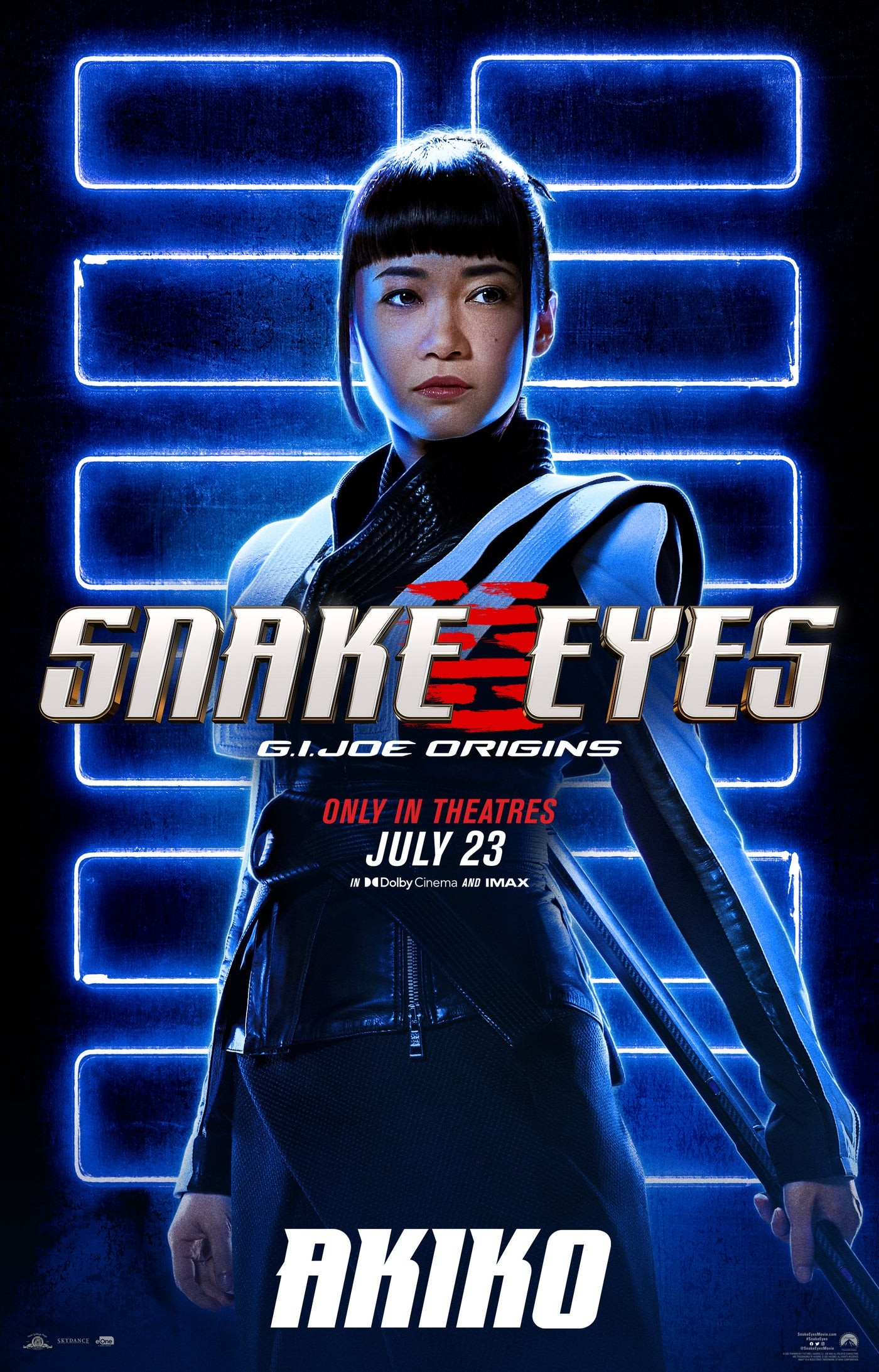 "Akiko na plakacie ""Snake Eyes"""