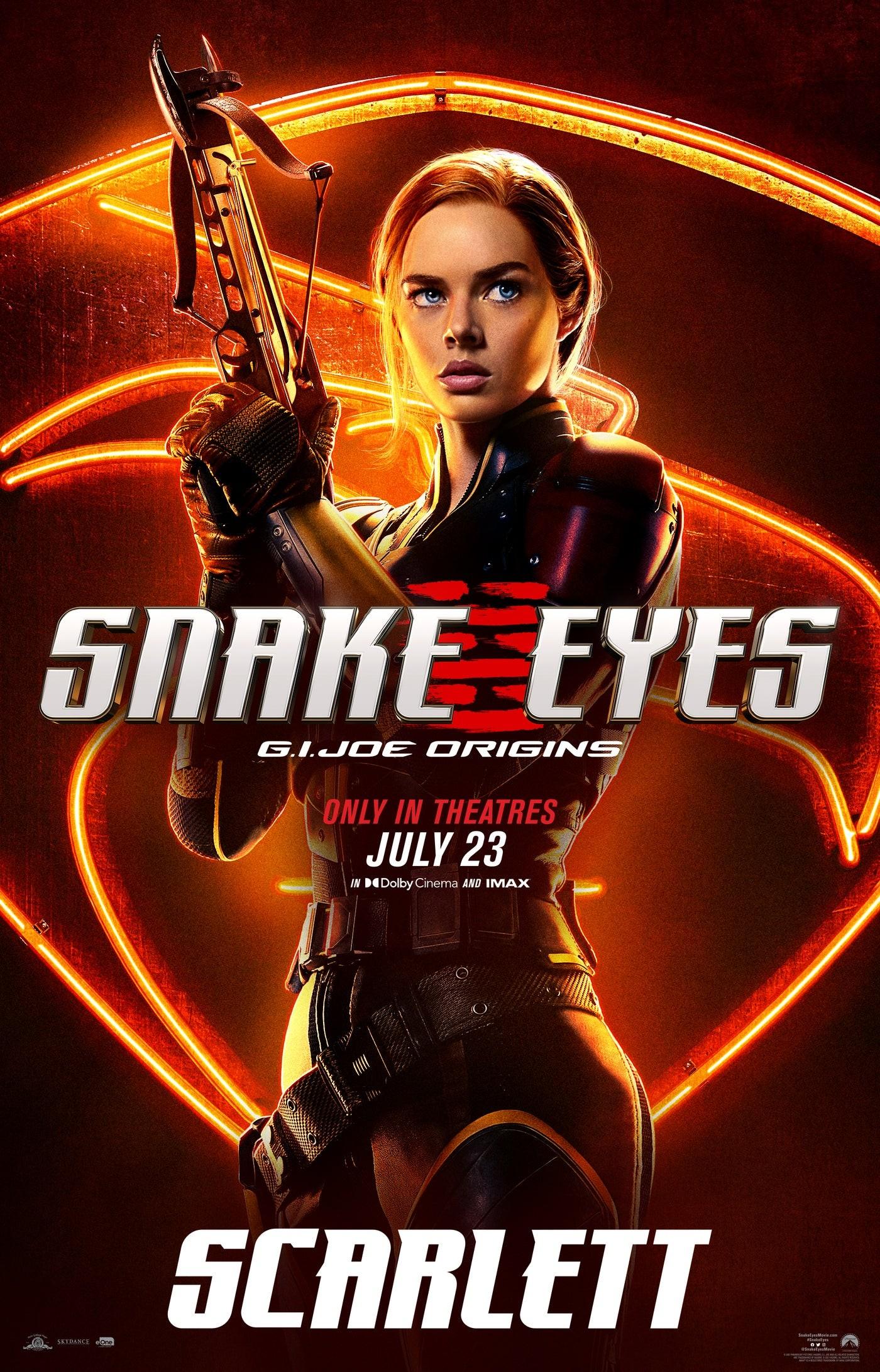 """Scarlett na plakacie """"Snake Eyes"""""""