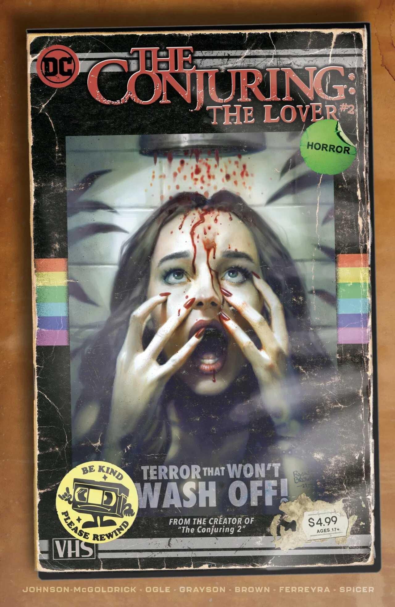 """Okładka zeszytu """"The Conjuring: The Lover"""" z serii DC Horror"""