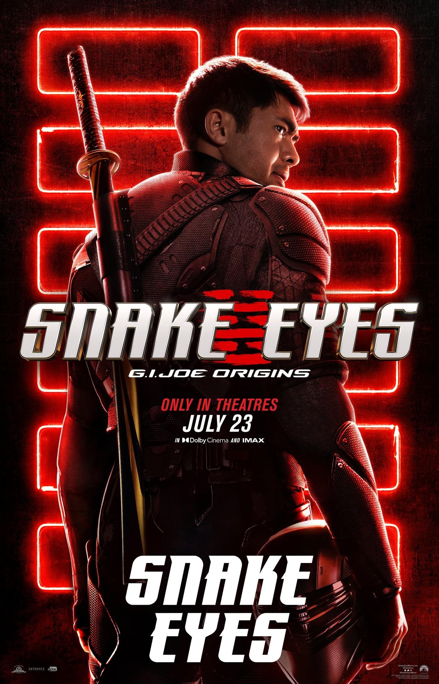 """Snake Eyes na plakacie """"Snake Eyes"""""""