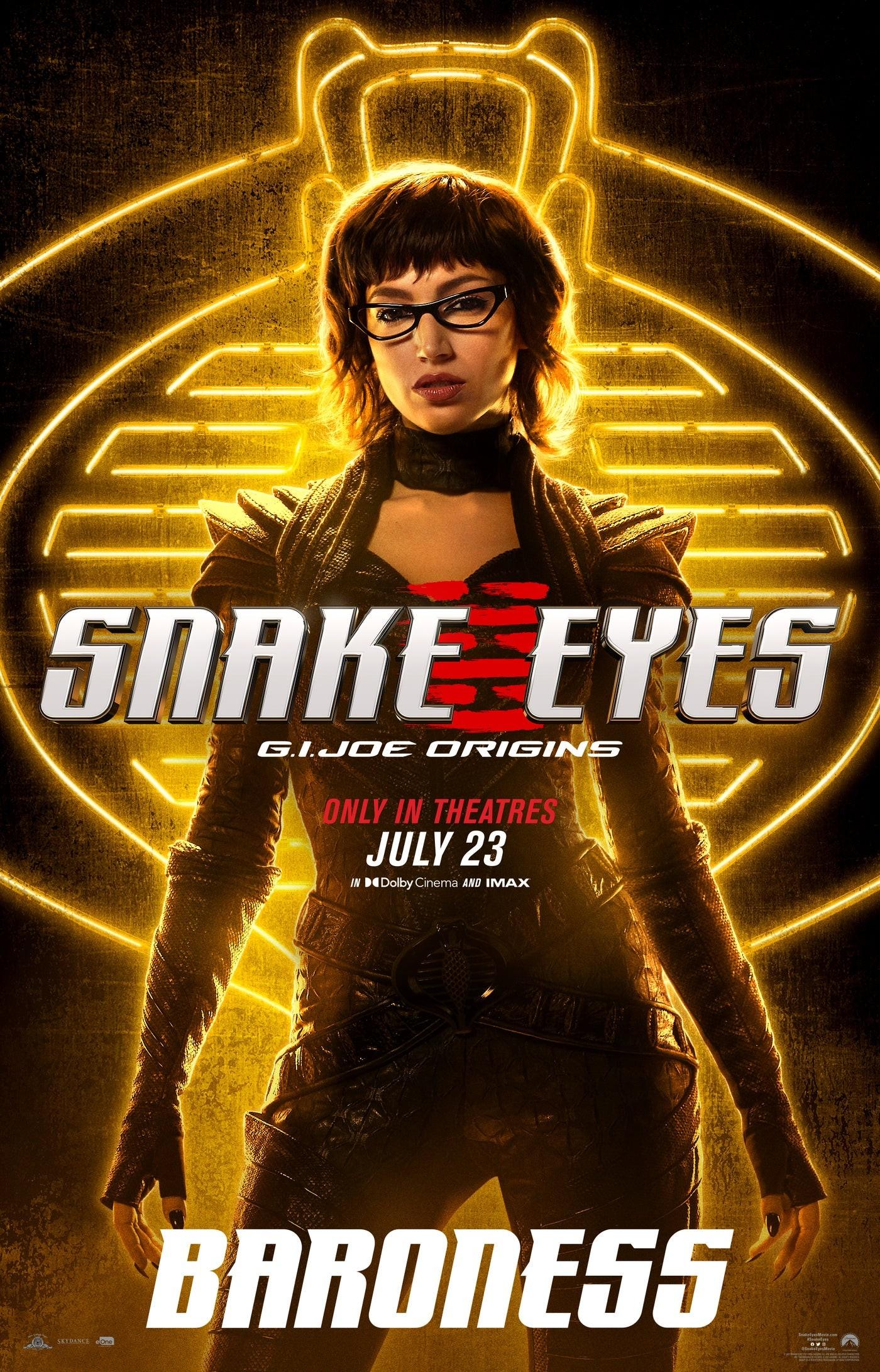 """Baroness na plakacie """"Snake Eyes"""""""