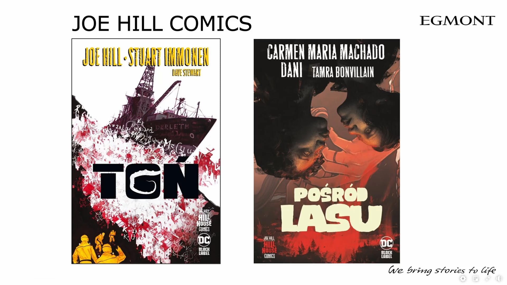 Joe Hill Comics komiksy Egmontu na 2021