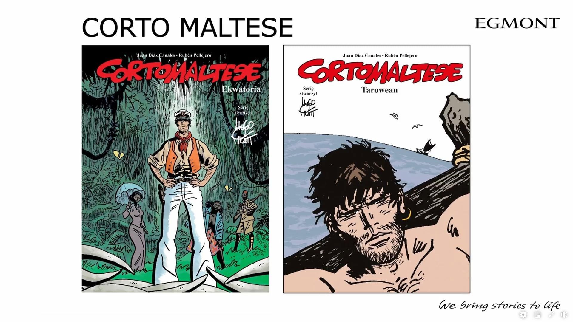Corto Maltese komiksy Egmontu na 2021 dwa tomy w 2021