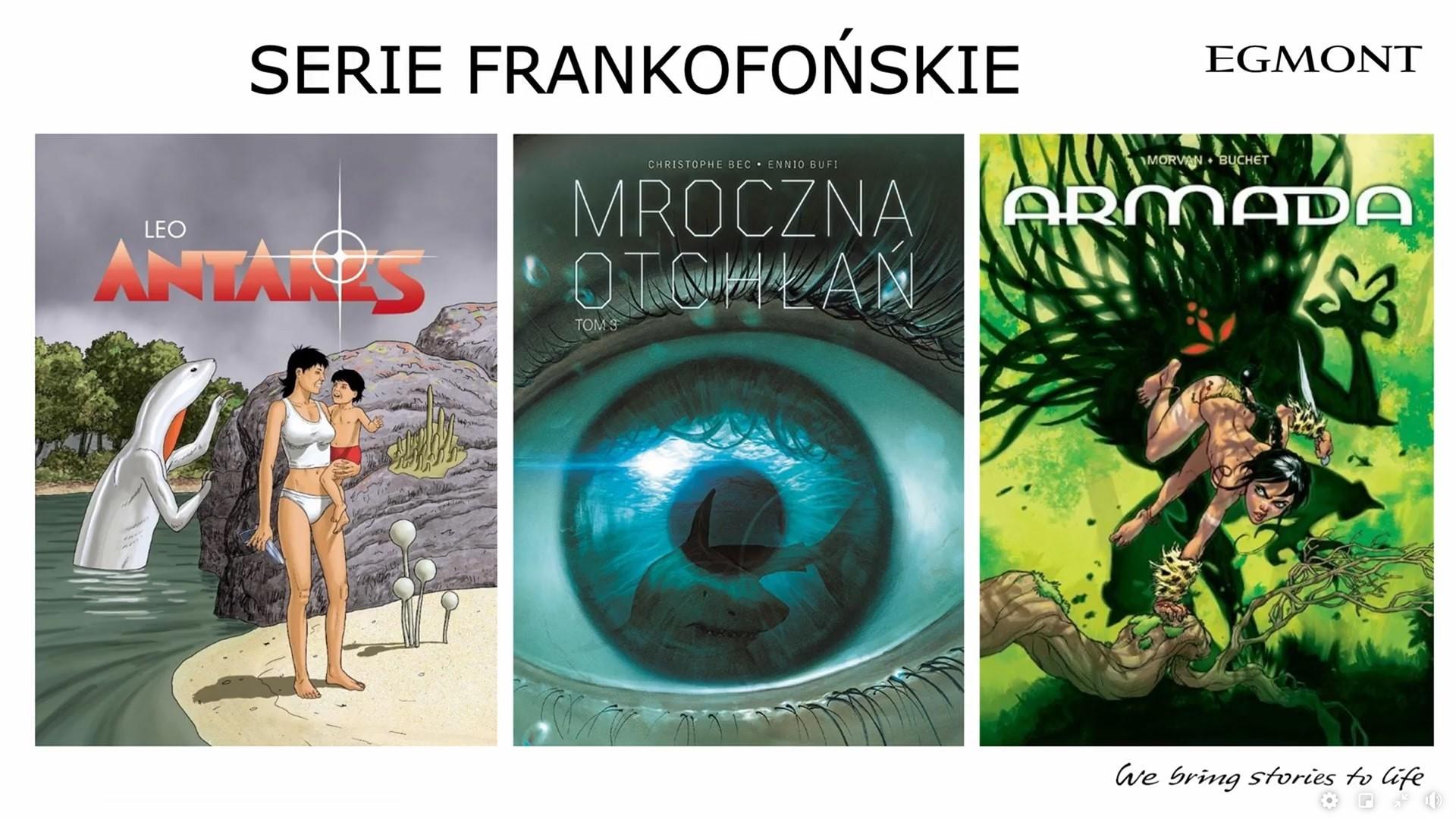 Komiksy Frankofońskie Egmontu na 2021 dwa tomy w 2021