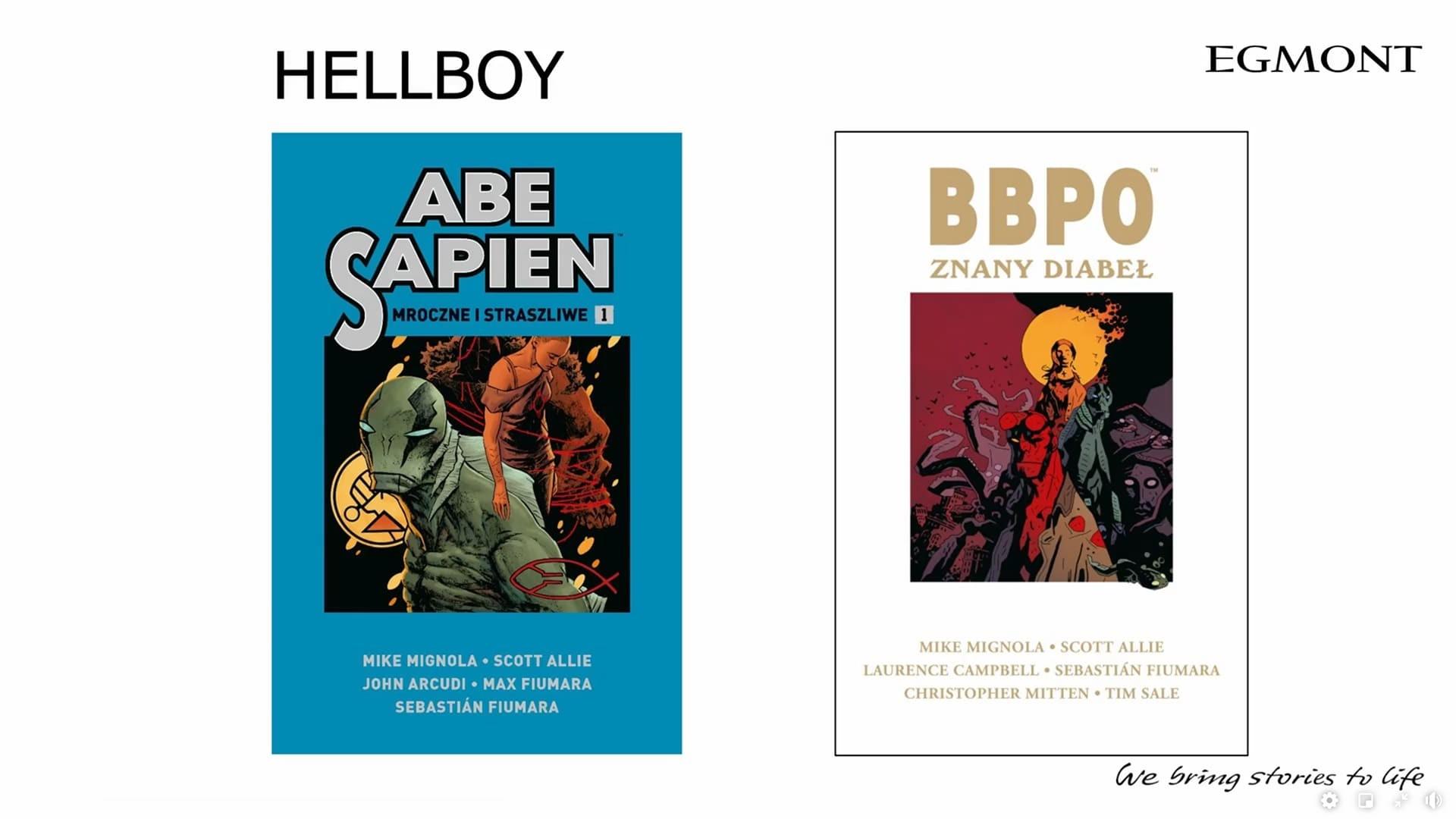 Hellboy i BBPO komiksy Egmontu na 2021 dwa tomy w 2021