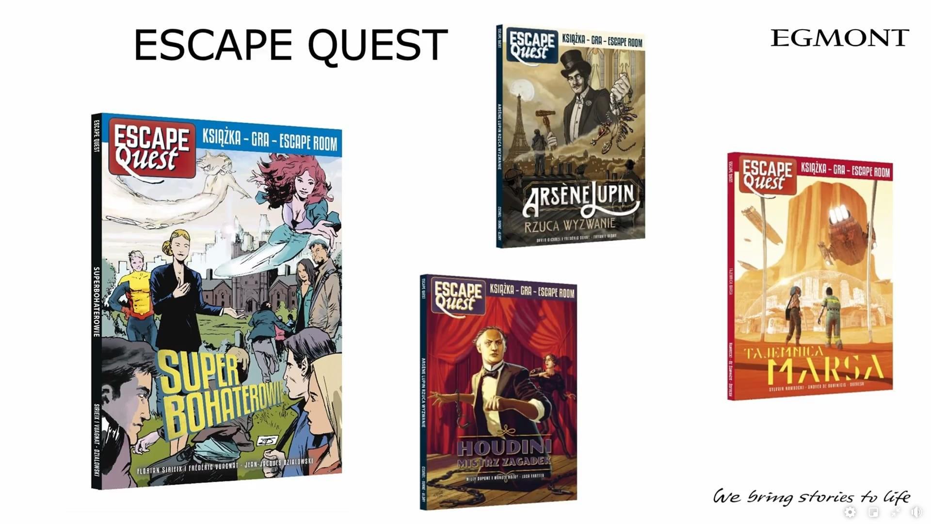Escape Quest komiksy Egmontu na 2021 dwa tomy w 2021