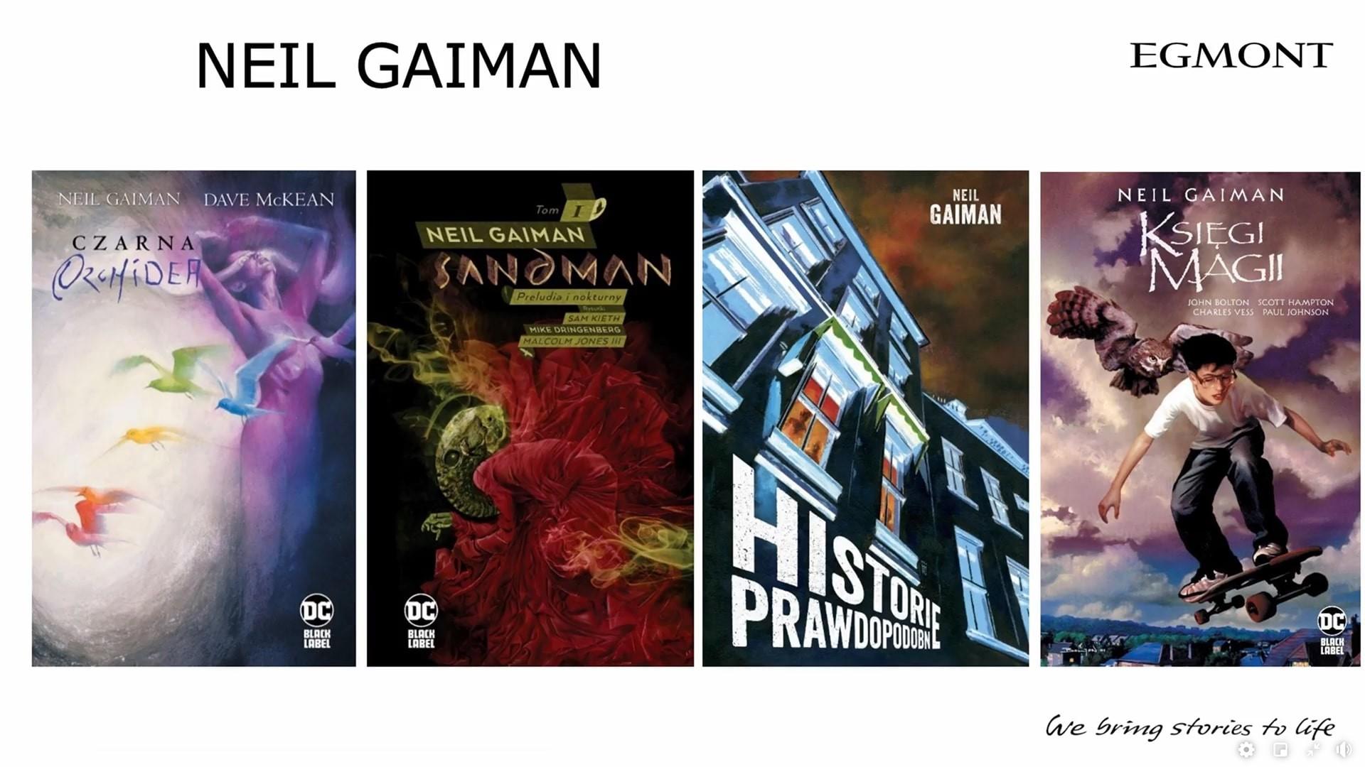 Neil Gaiman komiksy Egmontu na 2021 dwa tomy w 2021