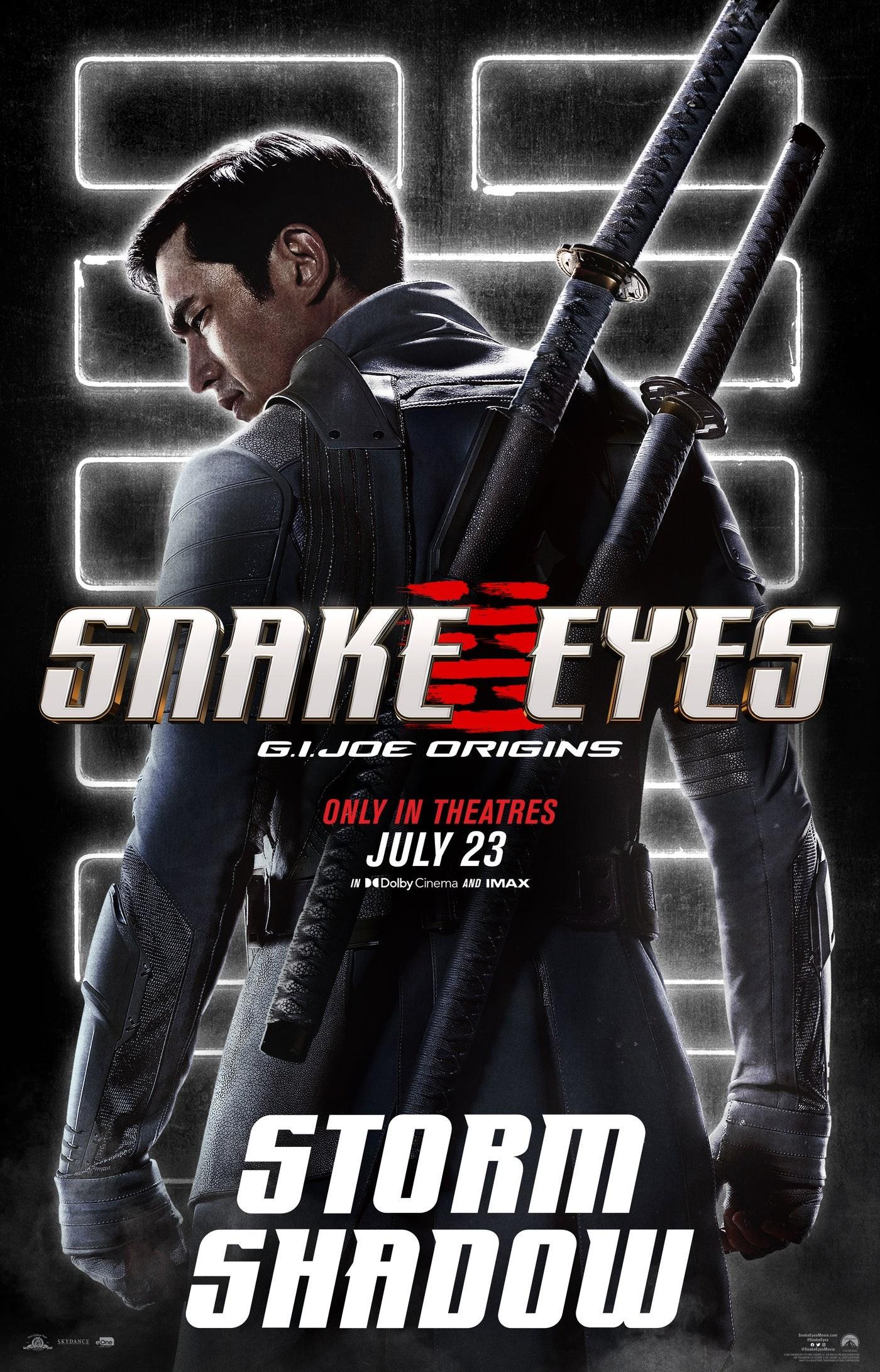 "Storm Shadow na plakacie ""Snake Eyes"""