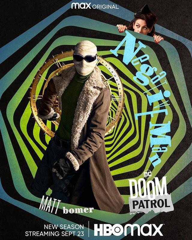 """Doom Patrol"" sezon 3 plakat Negative Man"