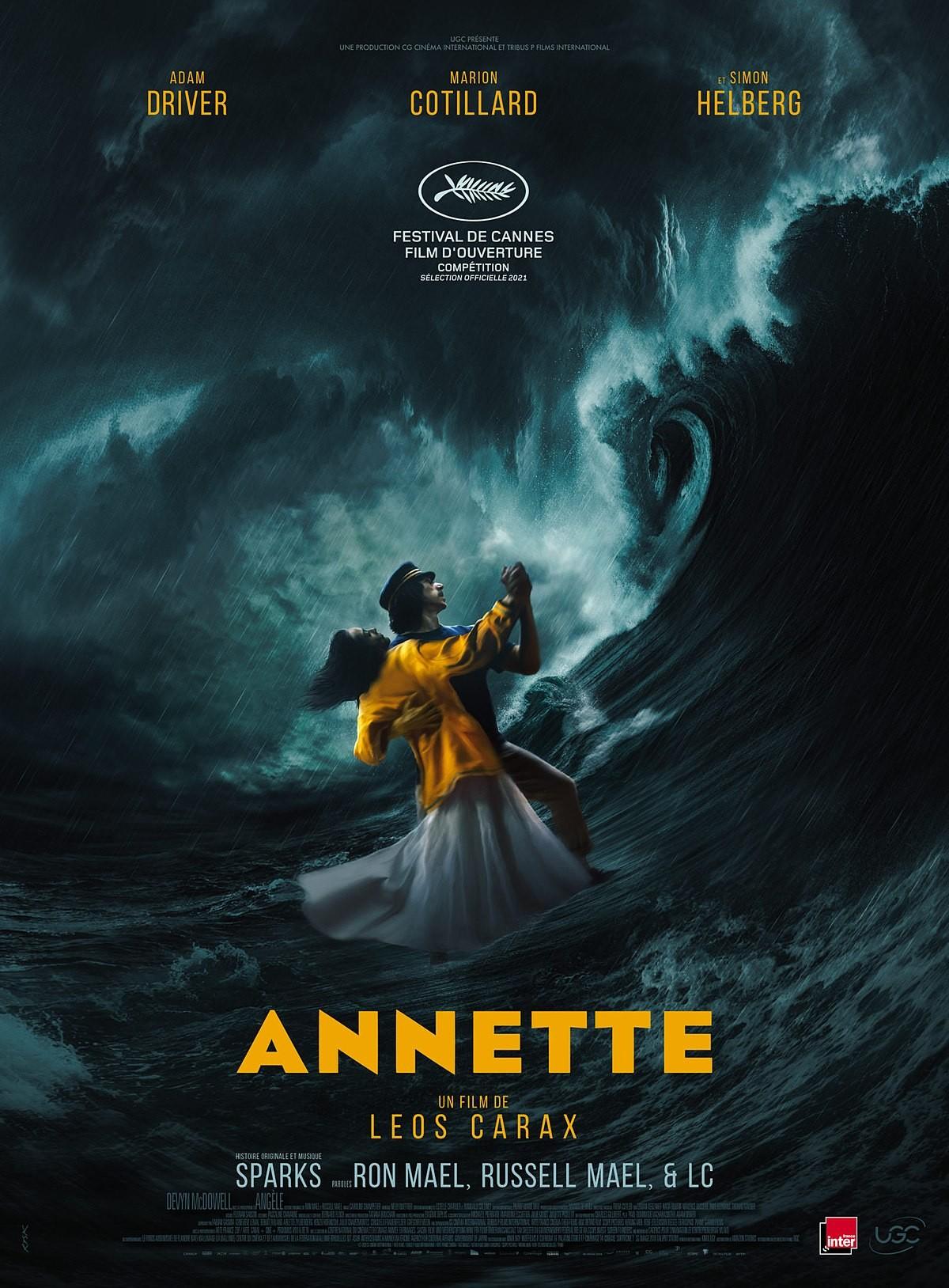 "Adam Driver i Marion Cotillard na plakacie musicalu ""Annette"""