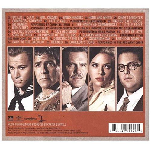 Ave, Cezar! - okładka soundtracku CD (tył)