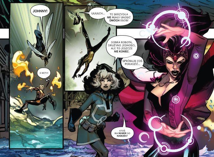 Avengers Nie poddamy się - plansza z komiksu