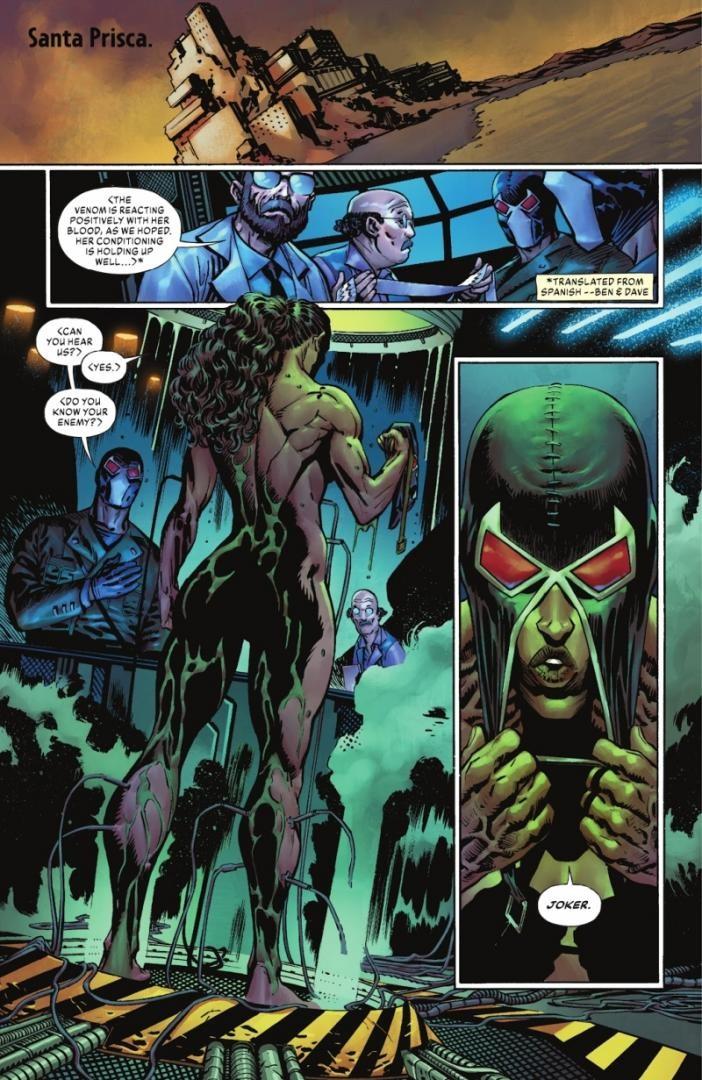 Kobieca wersja Bane'a w komiksie The Joker #2