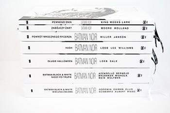 "Zdjęcia albumów kolekcji ""Batman Noir. Batman Black & White"""