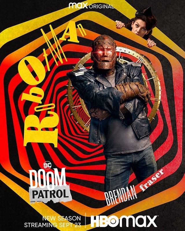 """Doom Patrol"" sezon 3 plakat Robotman"