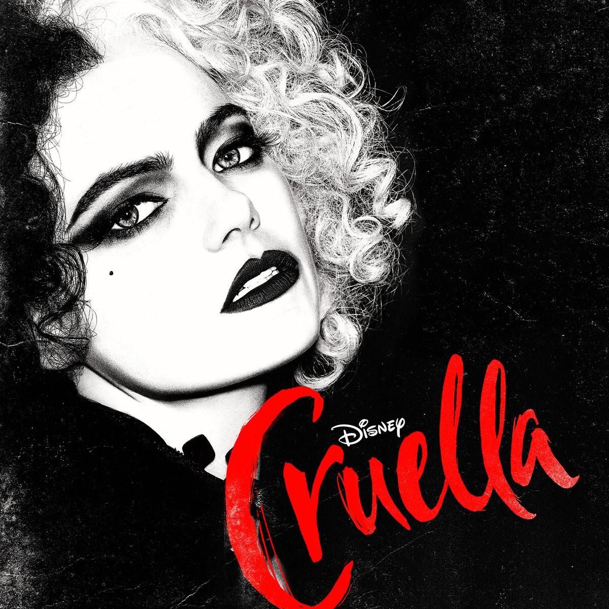 Cruella - okładka soundtracku CD (front) (album z piosenkami)