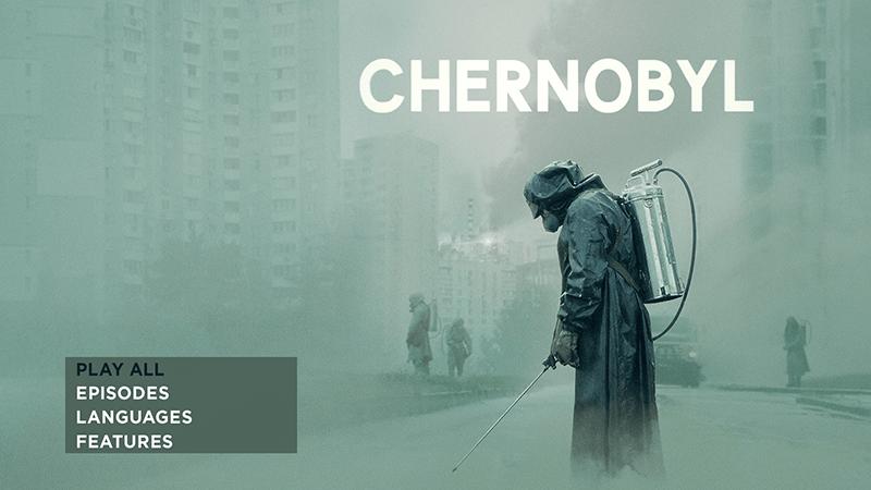 Czarnobyl menu płyty Blu-ray