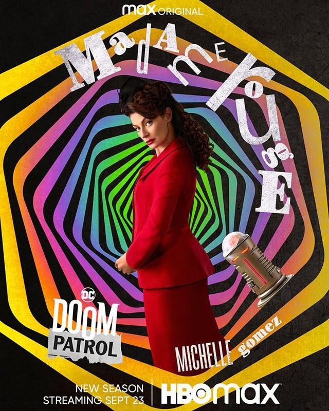 """""""Doom Patrol"""" sezon 3 plakat Madame Rouge"""