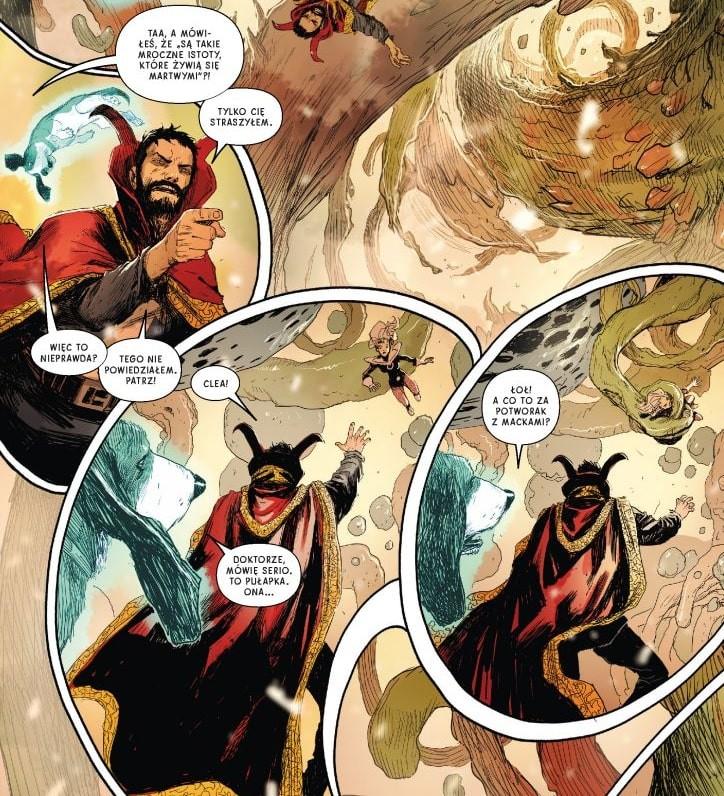 Doktor Strange tom 4 plansza z komiksu 01