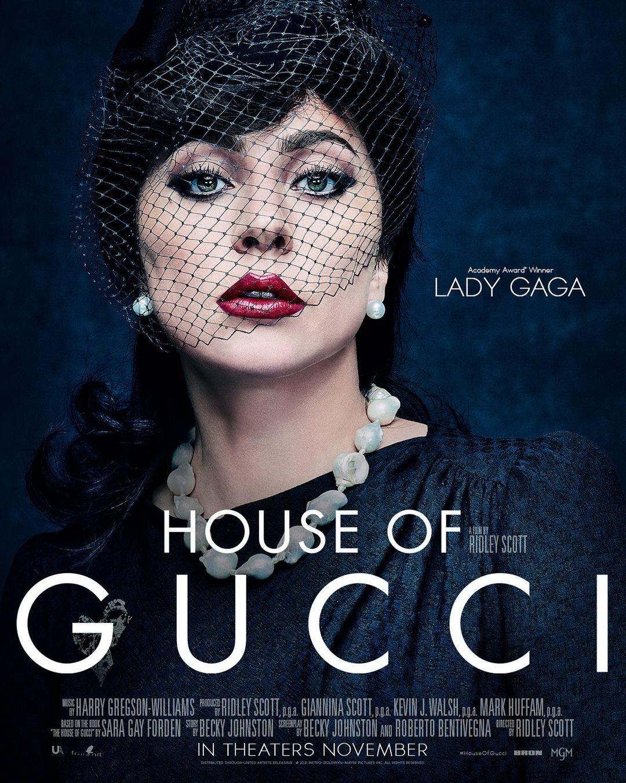Lady Gaga plakat filmu House of Gucci