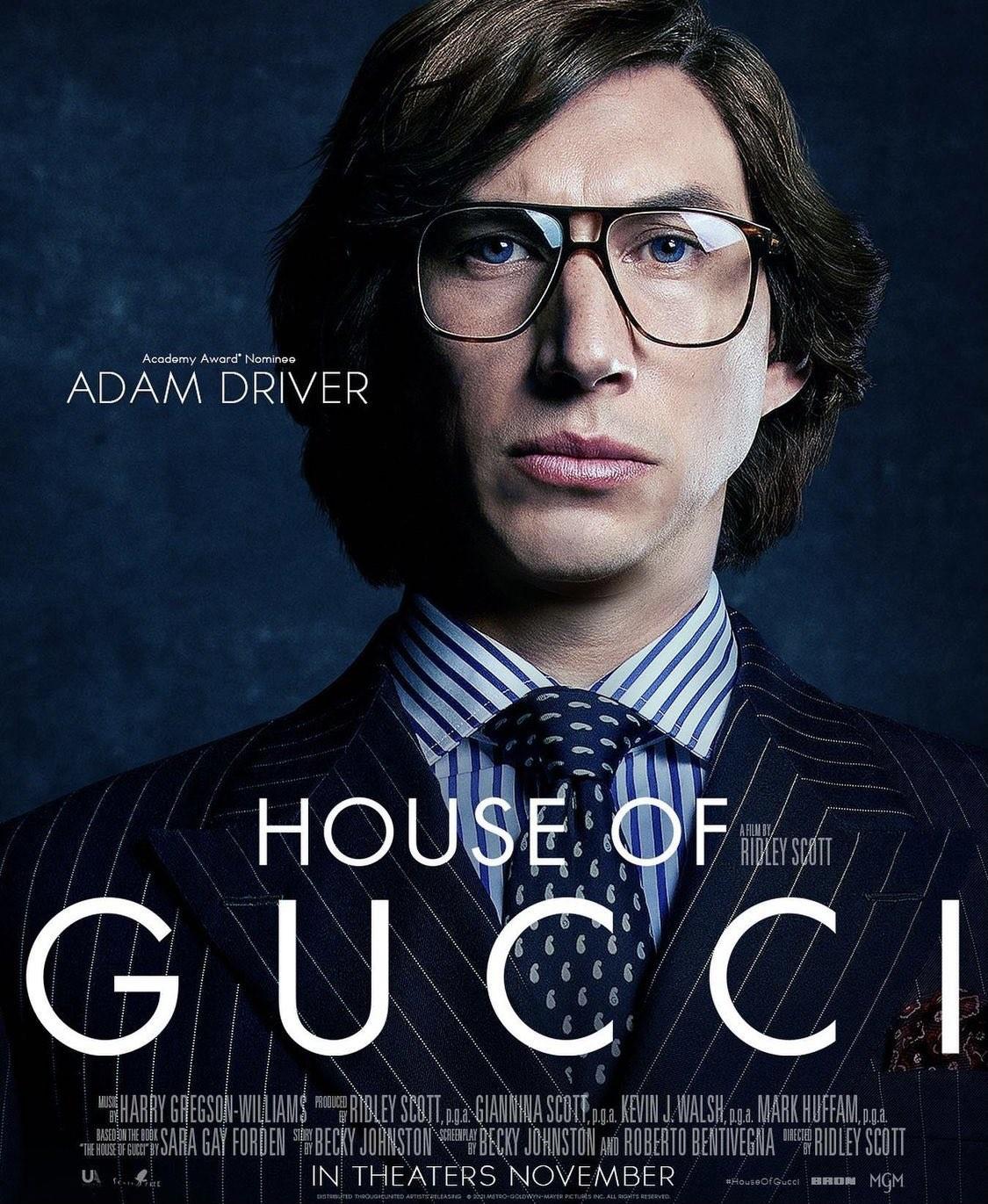 Adam Driver plakat filmu House of Gucci