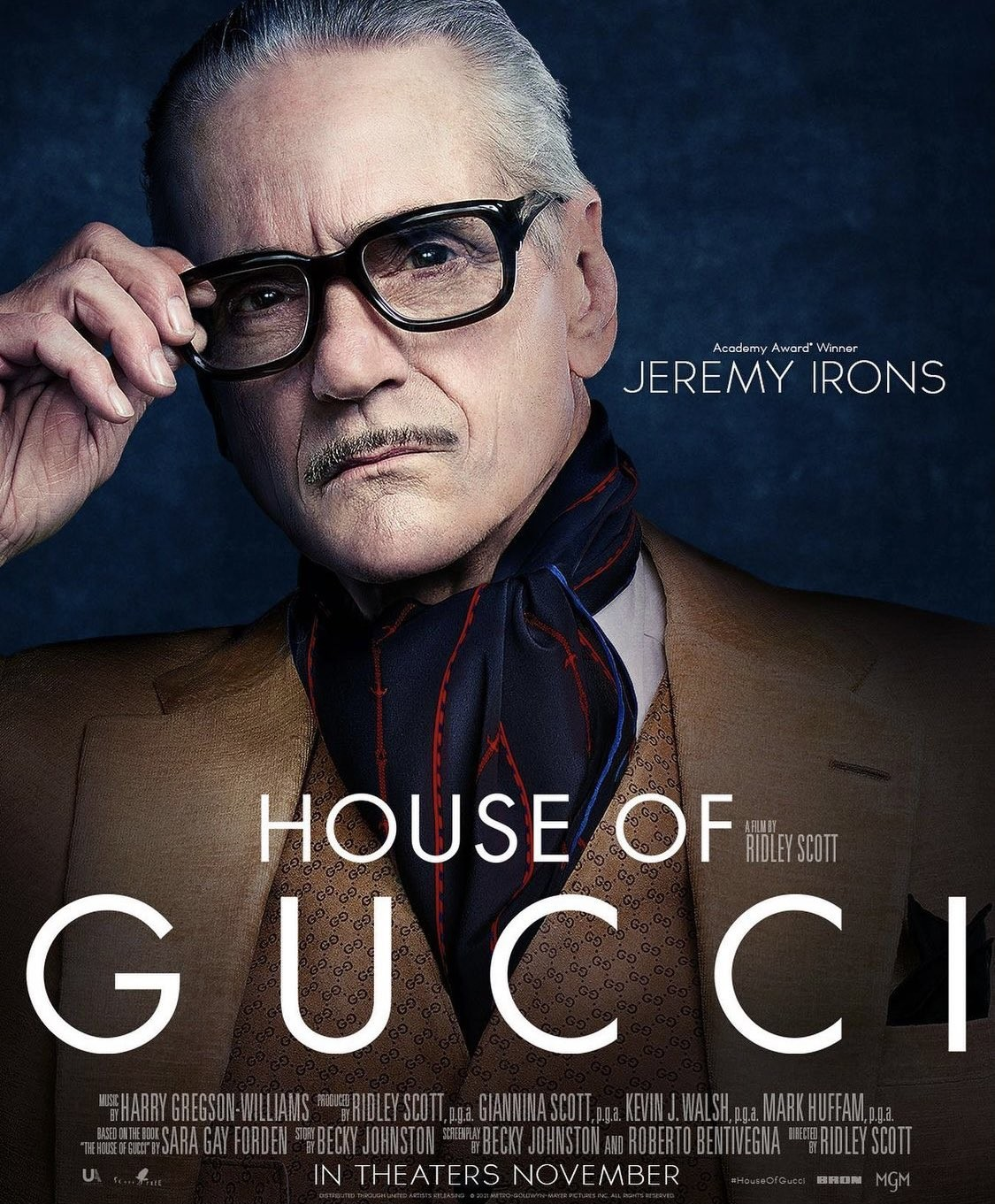 Jeremy Irons plakat filmu House of Gucci