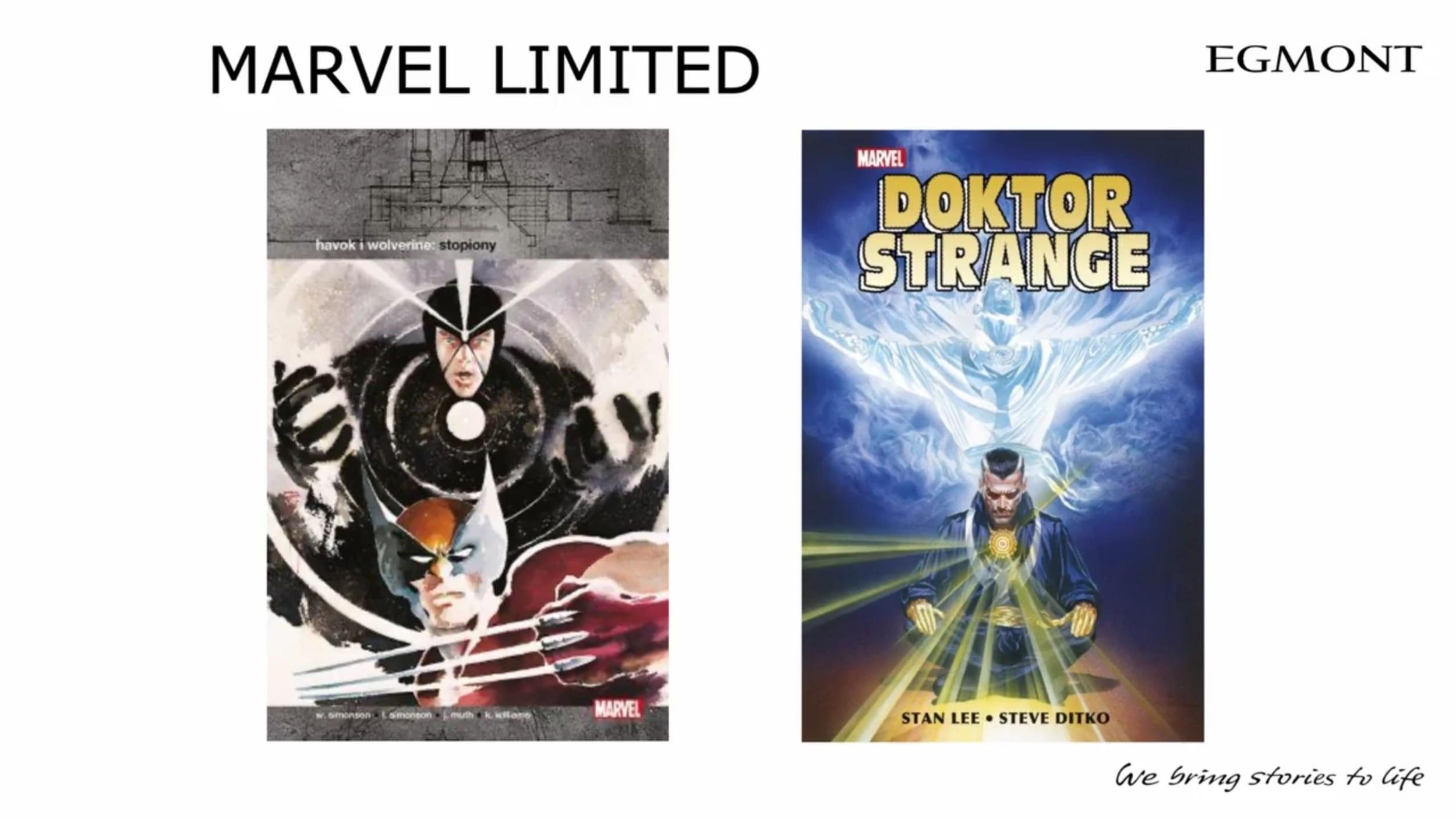 komiksy Marvel i DC od Egmontu na 2021