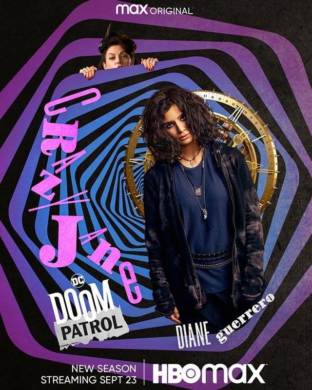 """Doom Patrol"" sezon 3 plakat Crazy Jane"
