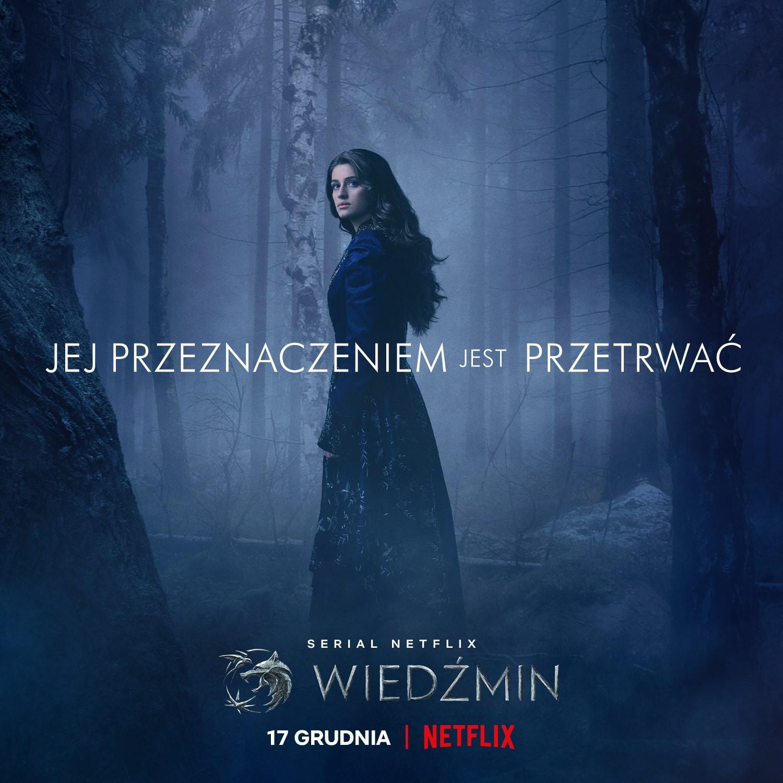 Yennefer plakat 2. sezonu serialu Wiedźmin