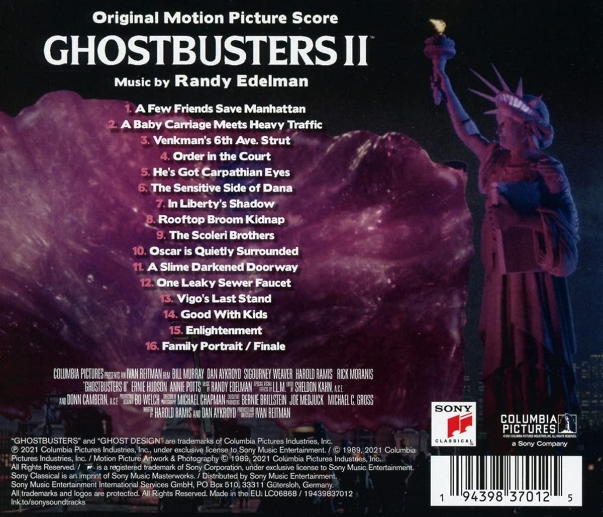 Ghostbusters II - okładka soundtracku CD (tył)