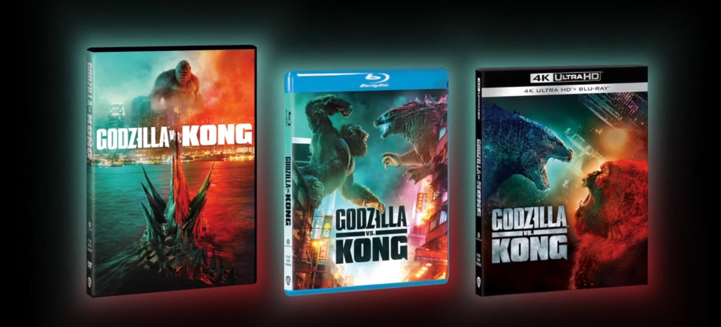 godzilla vs kong wydania DVD, Blu-ray i 4K UHD