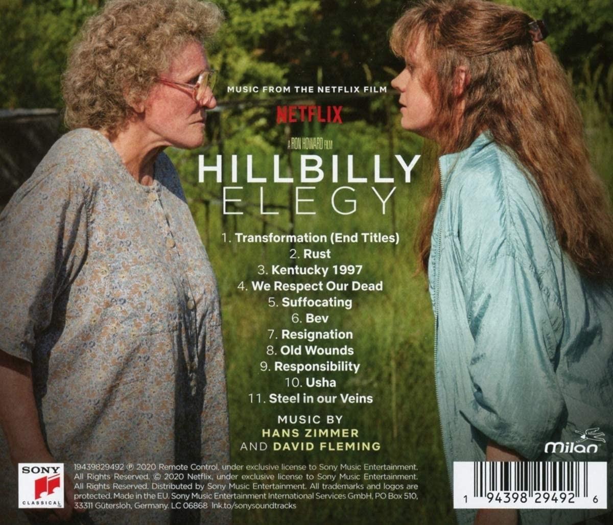 Hillbilly Elegy - okładka soundtracku CD (tył)