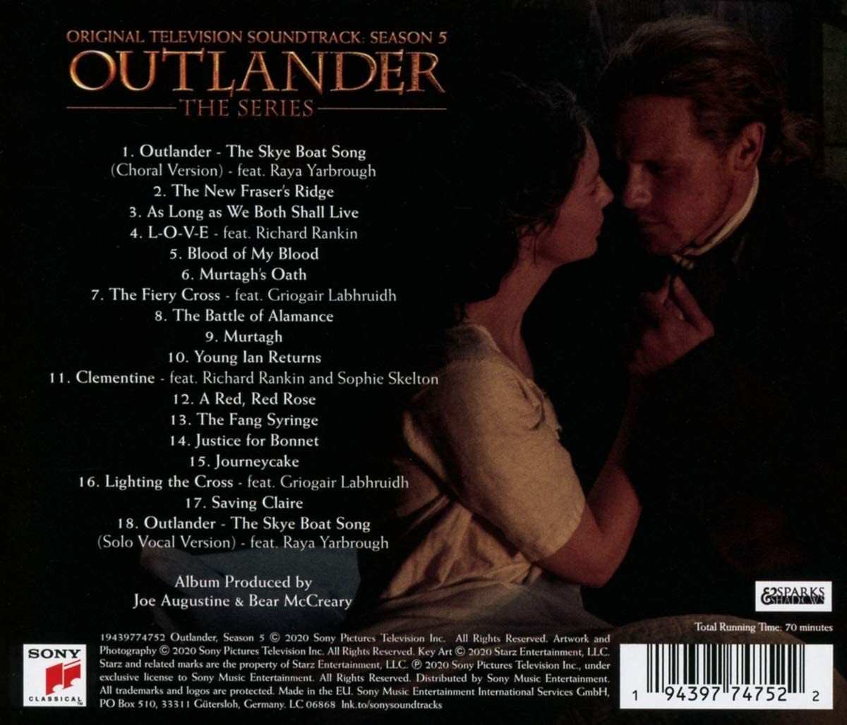 Outlander (Sezon 5) - okładka soundtracku CD (tył)