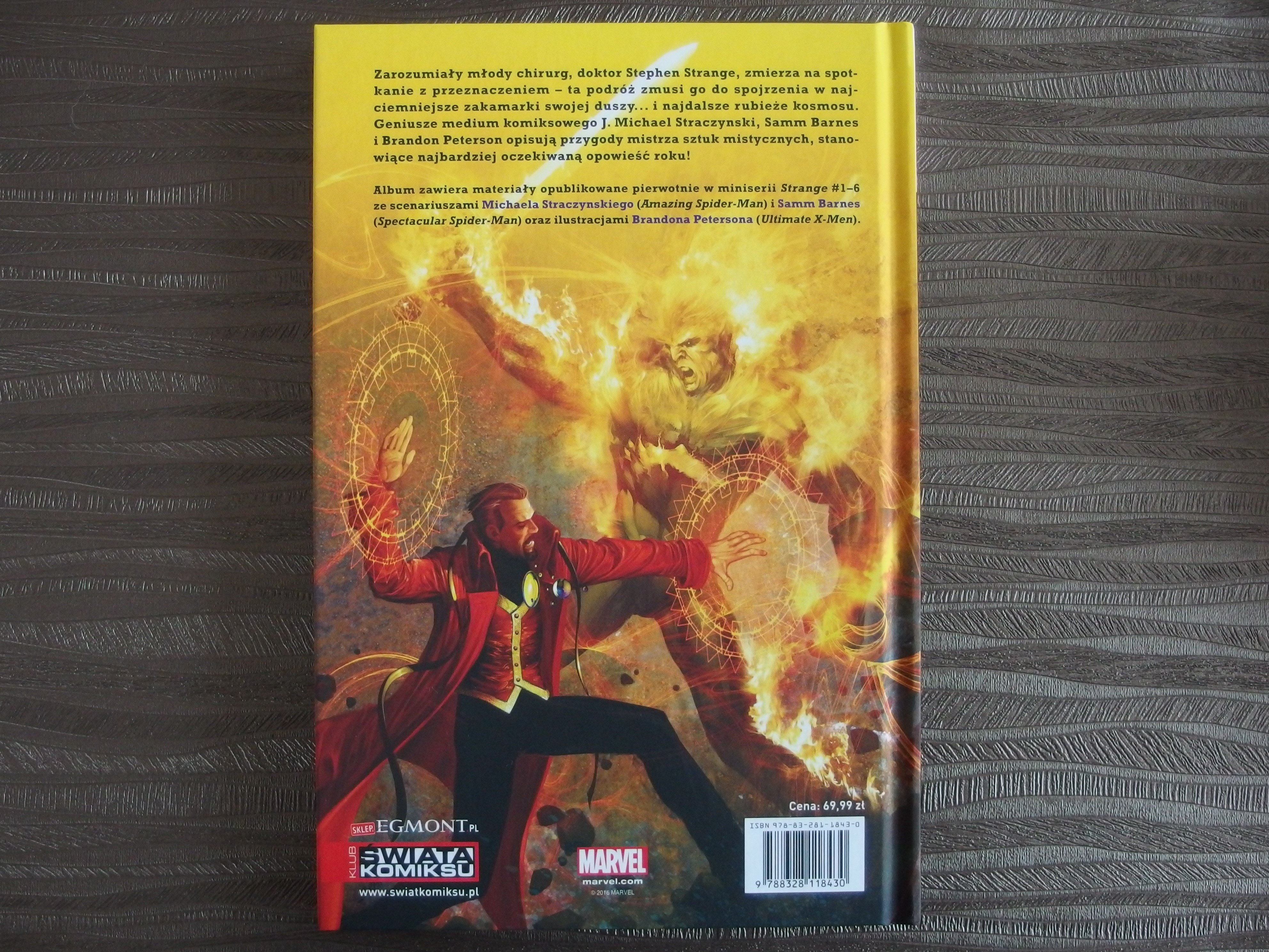Doktor Strange: Początki i Zakończenia - okładka - tył