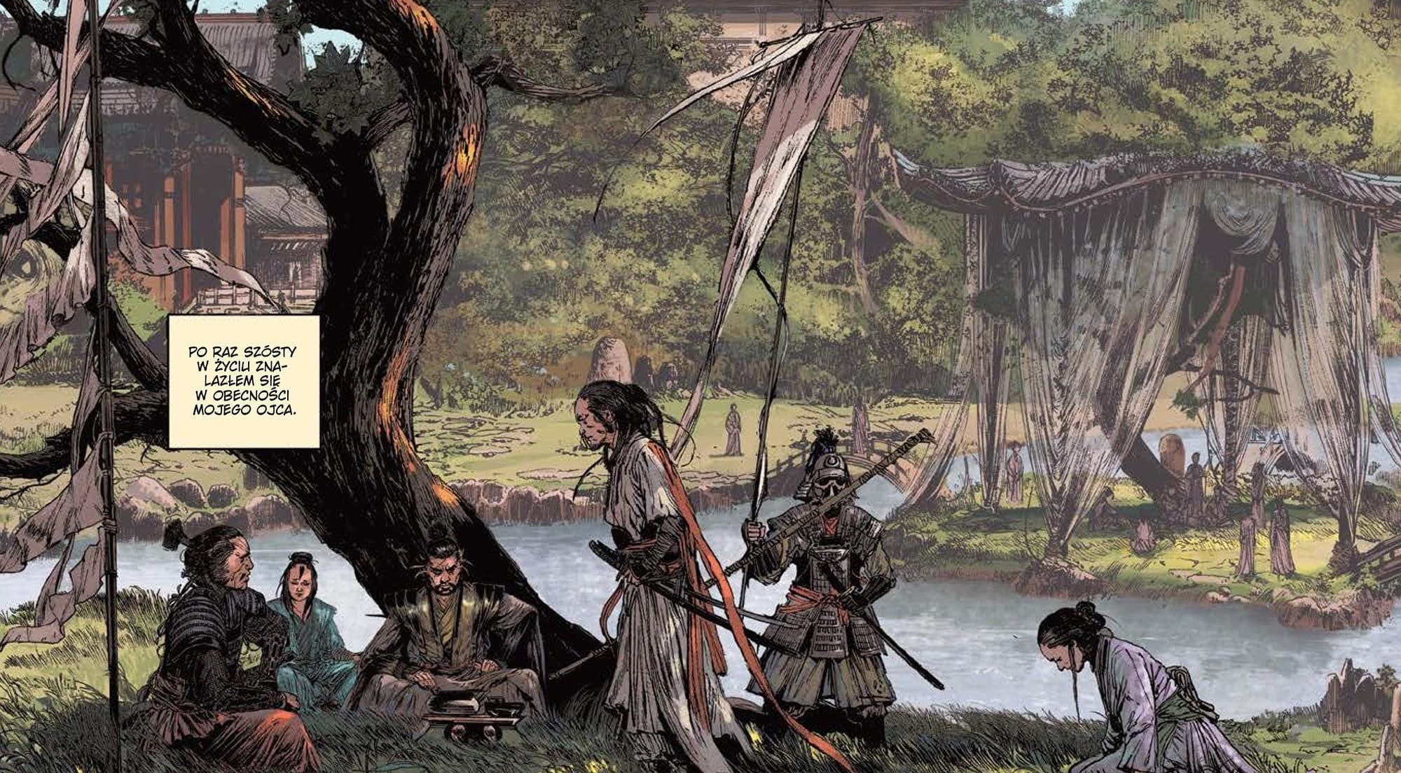 Plansza z komiksu Droga miecza tom 1 Popioły dzieciństwa