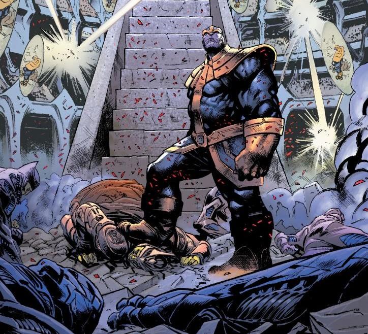 """Plansza z komiksu """"Thanos"""" tom 2"""